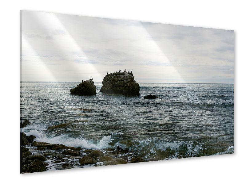 Acrylglasbild Leise Wellen