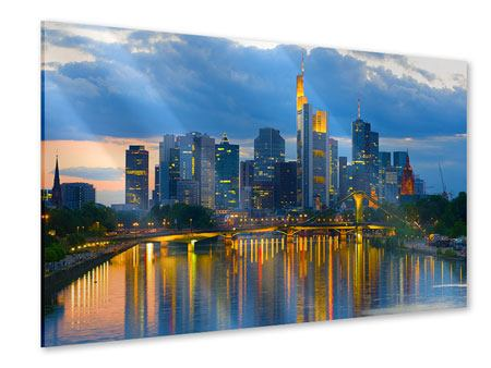 Acrylglasbild Skyline Frankfurt am Main