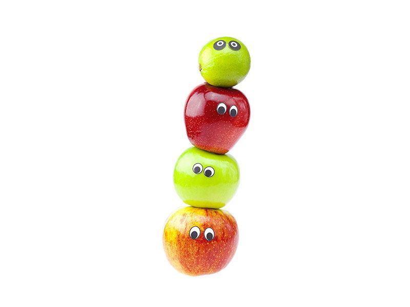 Acrylglasbild Lustiges Obst