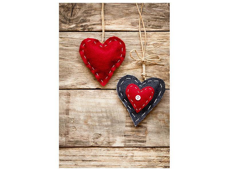 Acrylglasbild Herzromantik