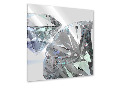 Acrylglasbild XXL Diamant