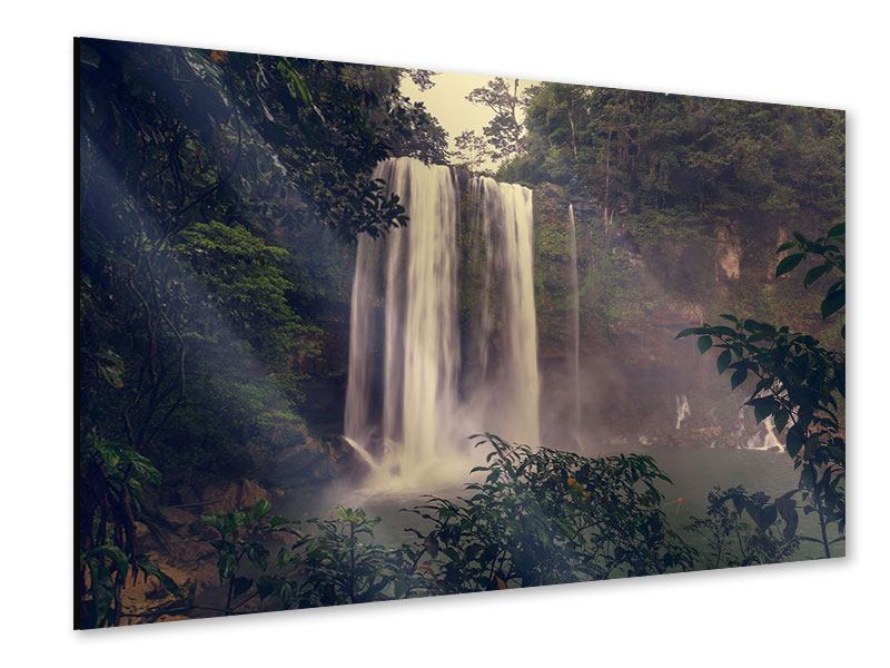 Acrylglasbild Wasserfall in Mexiko