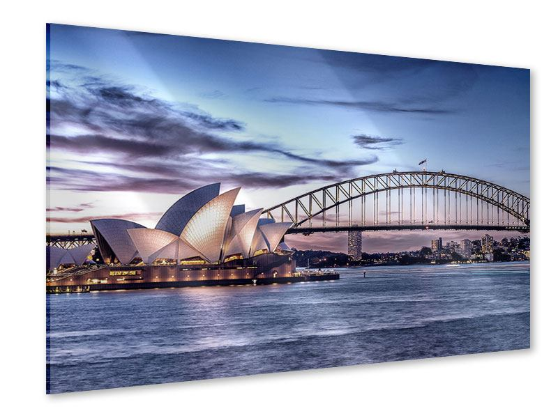 Acrylglasbild Skyline Sydney Opera House
