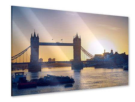 Acrylglasbild Tower Bridge bei Sonnenuntergang