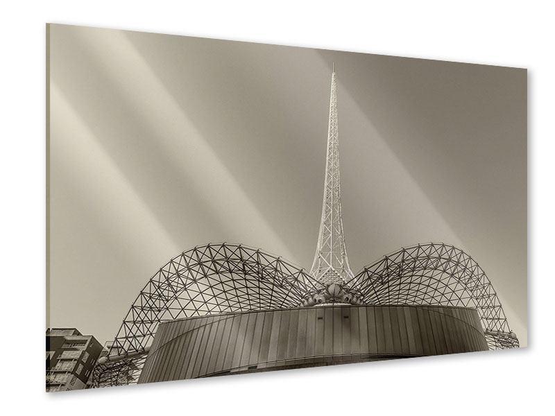 Acrylglasbild Close Up Wolkenkratzer