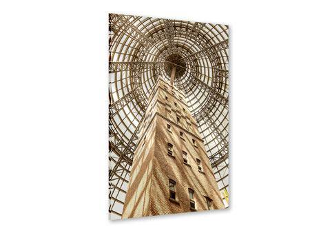 Acrylglasbild Wolkenkratzer Close Up