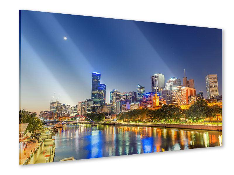 Acrylglasbild Skyline Sydney in der Abenddämmerung
