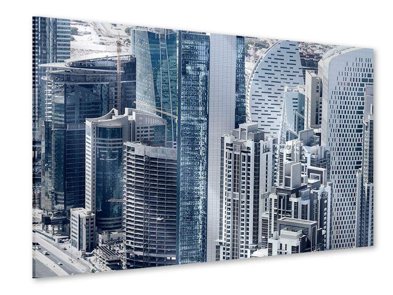 Acrylglasbild Die Wolkenkratzer von Dubai