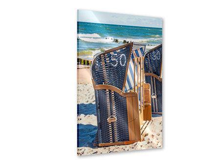 Acrylglasbild Strandkorb