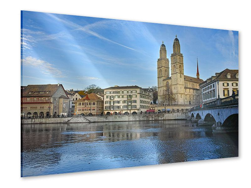 Acrylglasbild Die Altstadt von Zürich