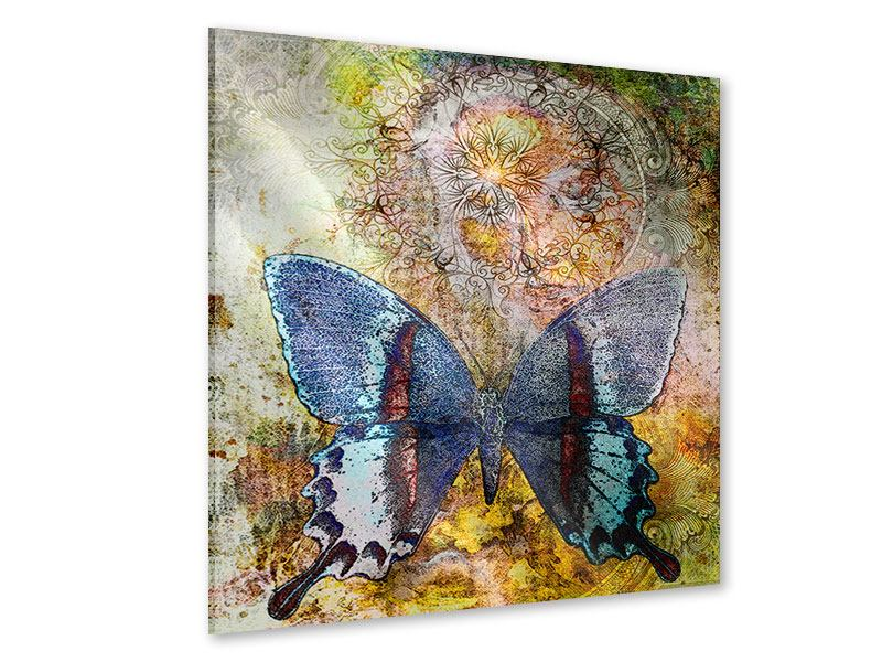 Acrylglasbild Ornament-Schmetterling