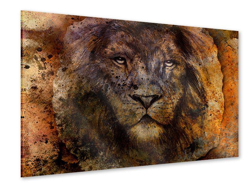 Acrylglasbild Portrait eines Löwen