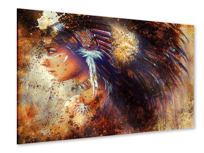 Acrylglasbild Indianer