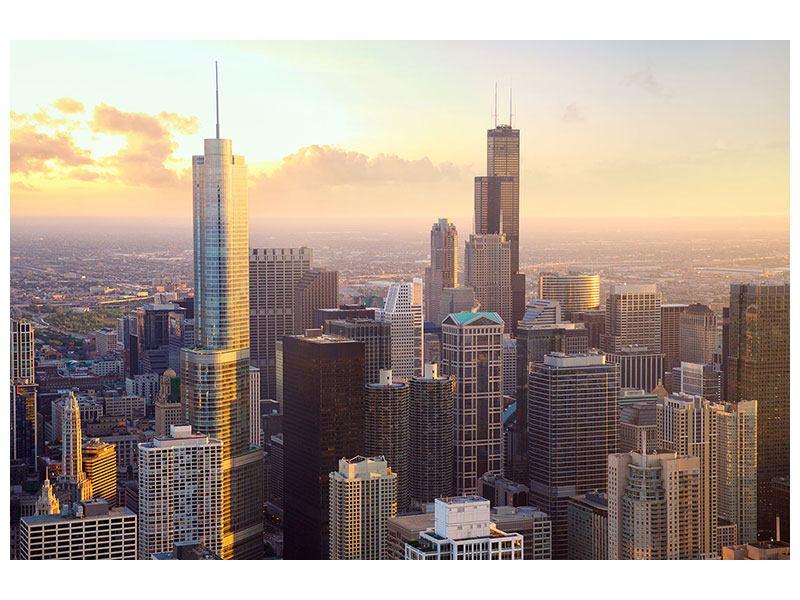 Acrylglasbild Skyline Chicago