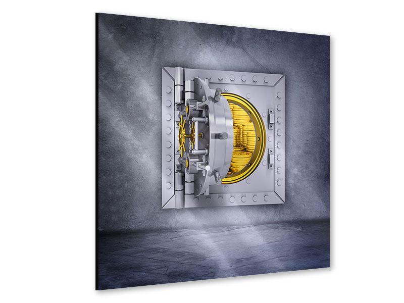 Acrylglasbild Gefüllter Tresor
