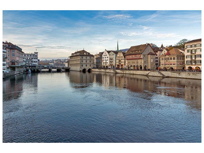 Acrylglasbild Kosmopolitisches Zürich