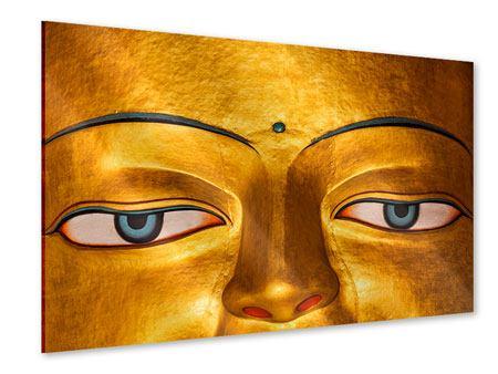 Acrylglasbild Die Augen eines Buddhas