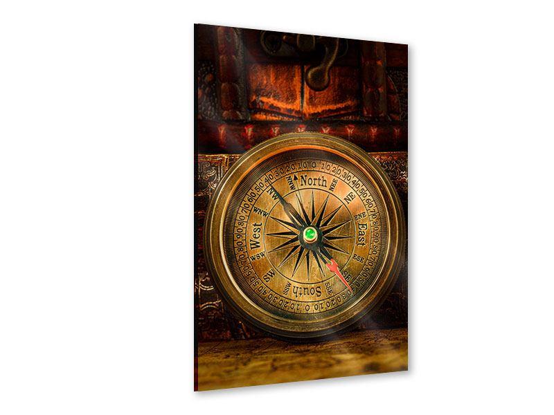 Acrylglasbild Antiker Kompass