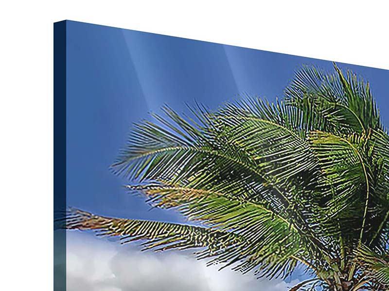 Acrylglasbild Strand an der blauen Lagune