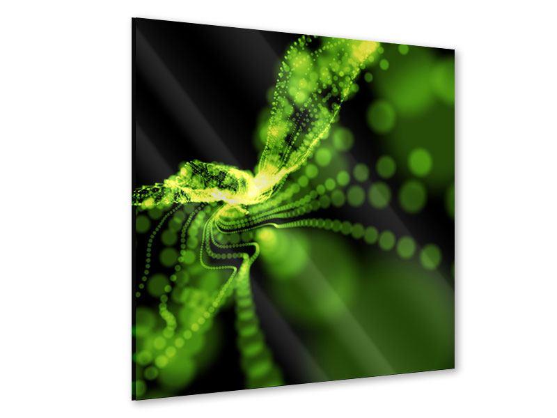 Acrylglasbild Grünes Lichterspiel