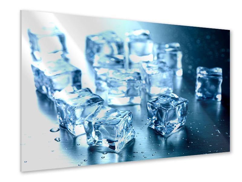 Acrylglasbild Viele Eiswürfel