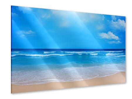 Acrylglasbild Sanfte Strandwellen