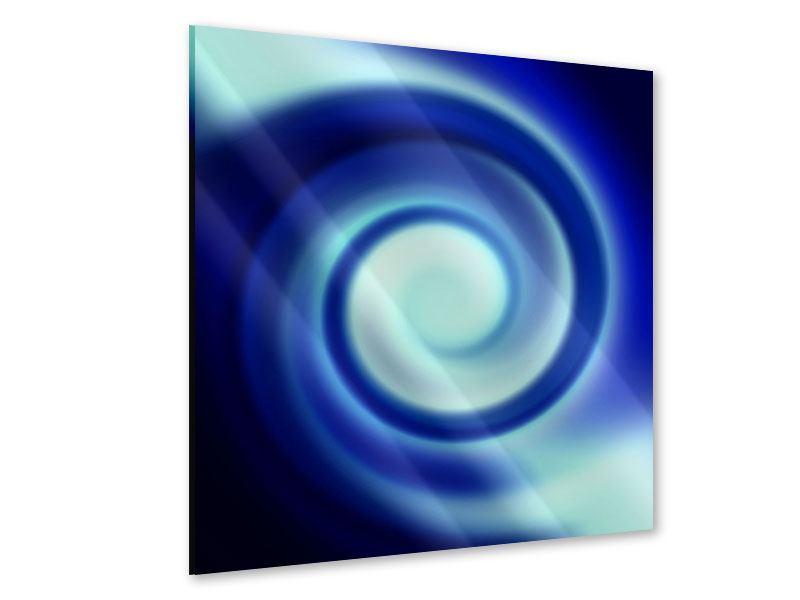 Acrylglasbild Abstrakte Blaue Wirbel