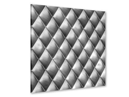Acrylglasbild 3D-Rauten Silbergrau