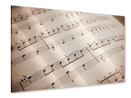 Acrylglasbild Das Notenblatt