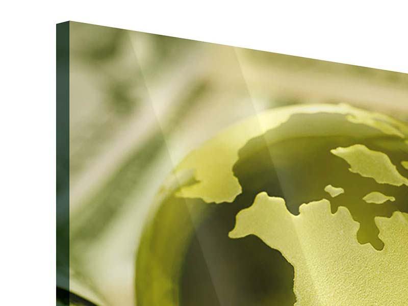 Acrylglasbild Geld regiert die Welt