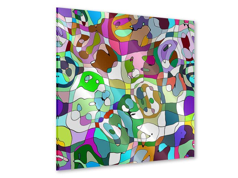 Acrylglasbild Kubistisches Gemälde