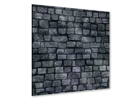 Acrylglasbild Graue Steinmauer