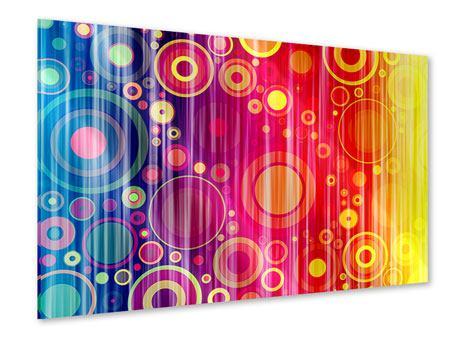 Acrylglasbild Grunge-Retrokreise