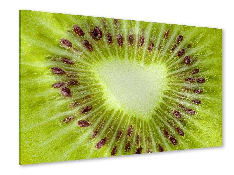Acrylglasbild Close Up Kiwi