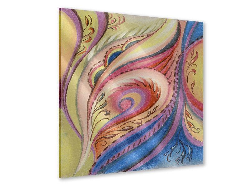 Acrylglasbild Paisley-Malerei