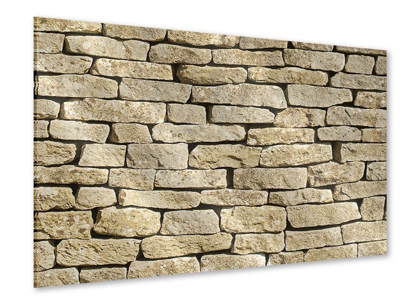 Acrylglasbild Alte Mauer