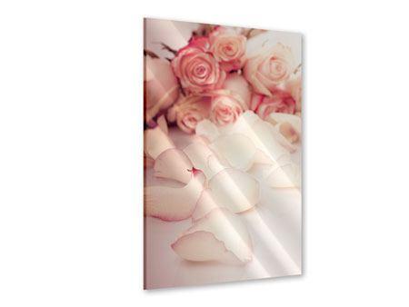 Acrylglasbild Rosen-Blütenblätter
