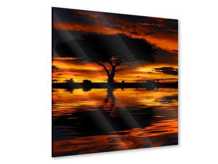 Acrylglasbild Sonnenuntergang in Kenia