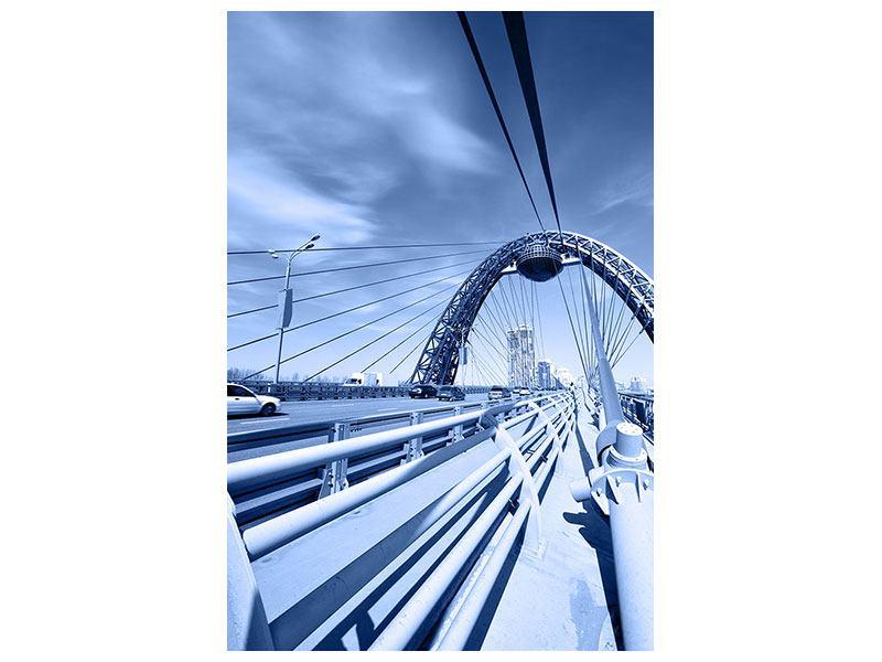Acrylglasbild Moderne Hängebrücke