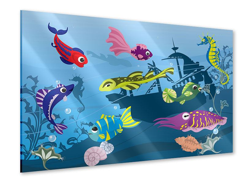 Acrylglasbild Fische im Wasser