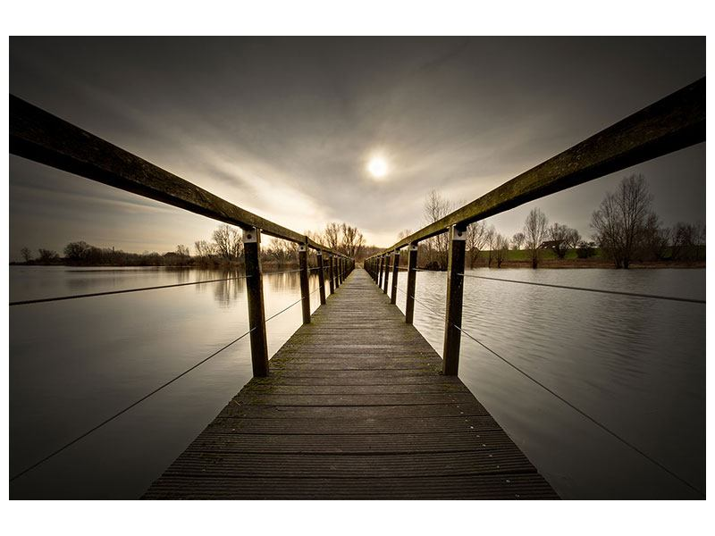 Acrylglasbild Die Holzbrücke