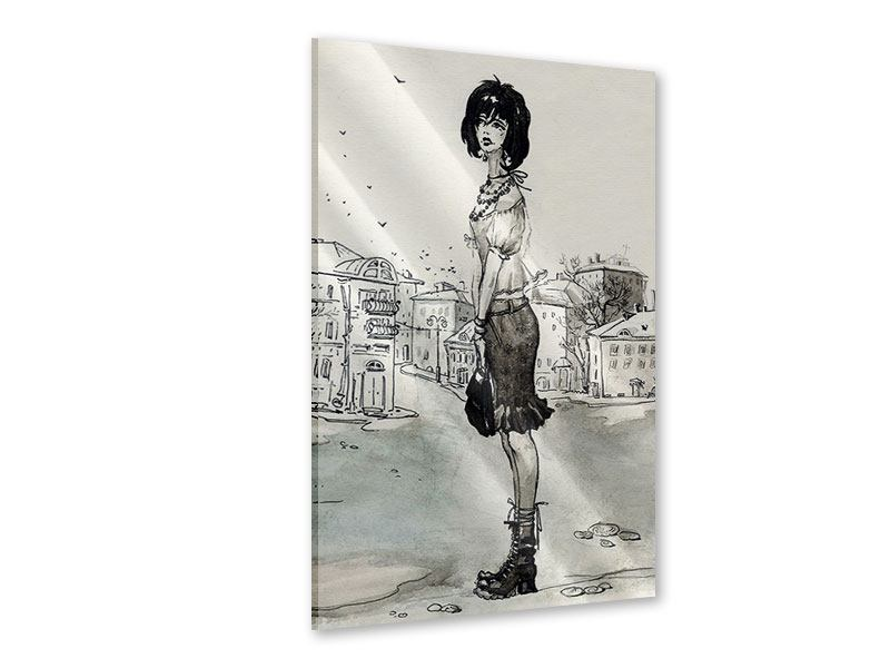 Acrylglasbild Fashion Girl