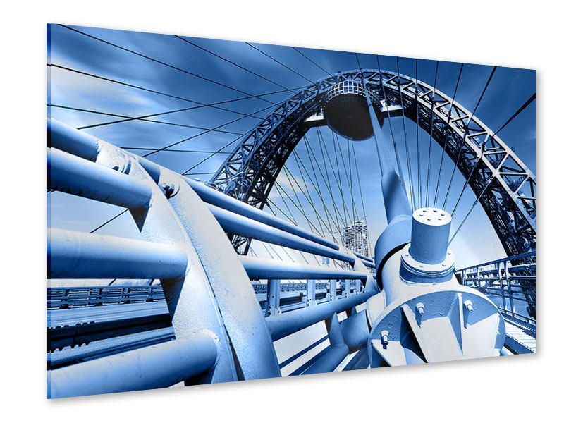 Acrylglasbild Avantgardistische Hängebrücke