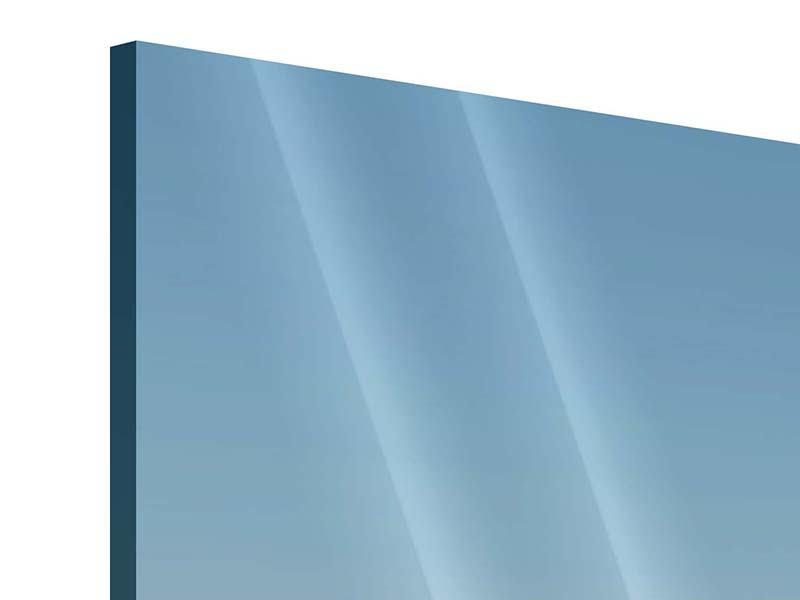 Acrylglasbild Papierschiffchen