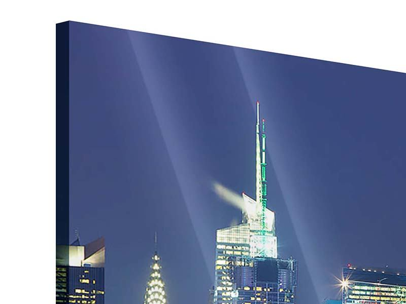 Acrylglasbild Skyline New York Midtown bei Nacht