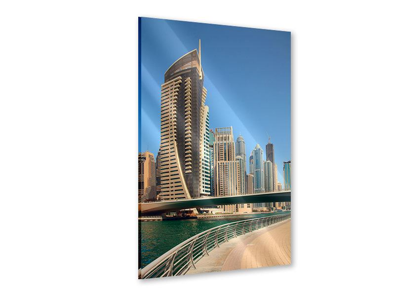 Acrylglasbild Spaziergang in Dubai