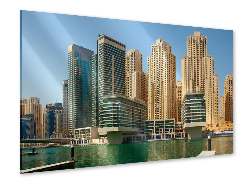 Acrylglasbild Spektakuläre Wolkenkratzer Dubai