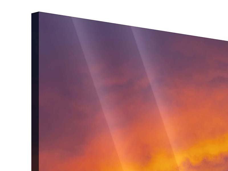 Acrylglasbild Sonnenuntergang im Canon