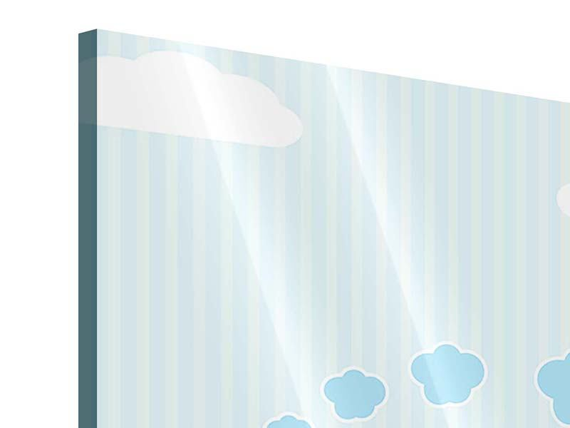 Acrylglasbild Der Regenbogenzug