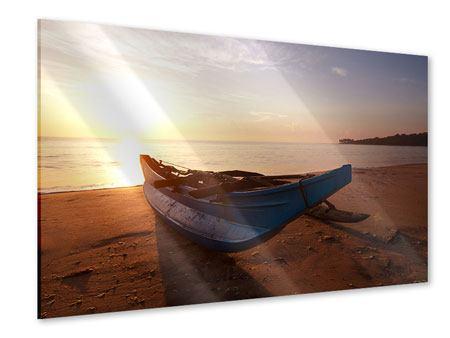 Acrylglasbild Das gestrandete Boot